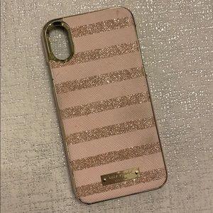 Pink Sparkle Kate Spade iPhoneX case